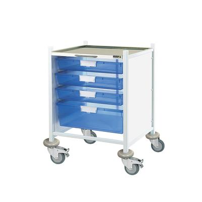 Sunflower Vista 40 Clinical Trolley - 3 Single, 1 Double Trays