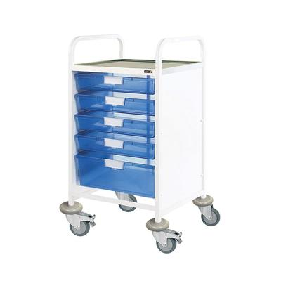 Sunflower Vista 50 Clinical Trolley - 4 Single, 1 Double Trays