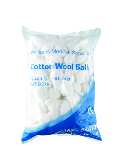 Cotton Wool Balls (Large) x250 Large x250