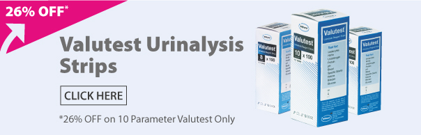 Valutest Urinalysis Strips